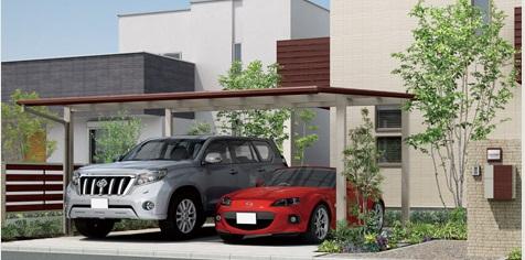 岡崎市・幸田町で外構・エクステリア・庭の設計施工を手掛けるサンホームズが提案する木目調のカーポート