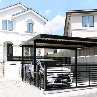 岡崎市・豊田市・幸田町でエクステリア・外構設計施工、庭のリフォーム工事を手掛けるサンホームズが工事した欧風住宅にあう庭